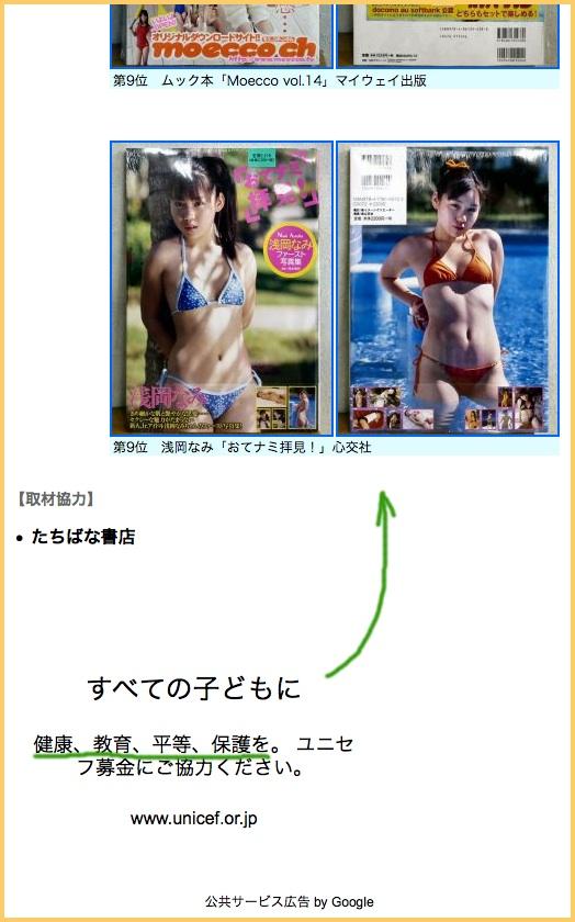 Niñas japonesas en bikini, y la UNICEF 子供アイドルとユニセフ
